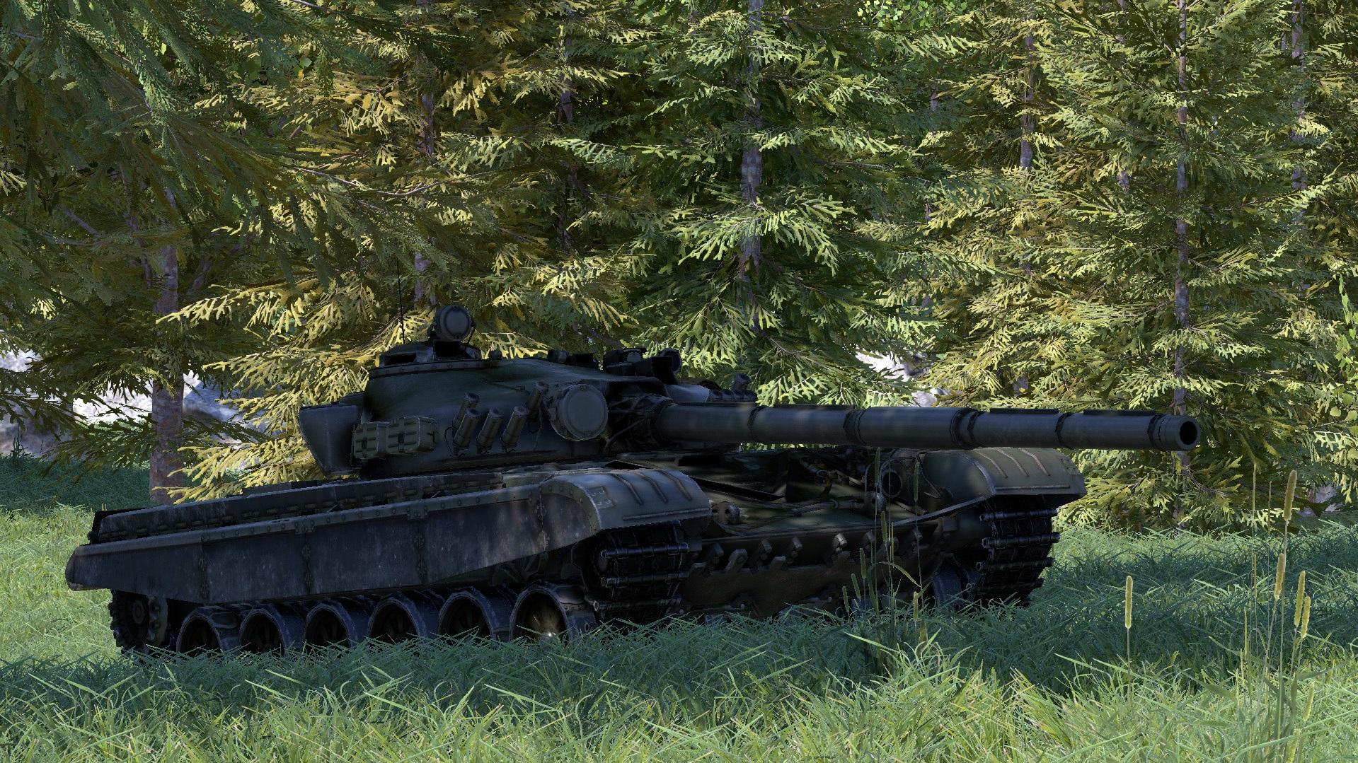 T-72 Under Trees