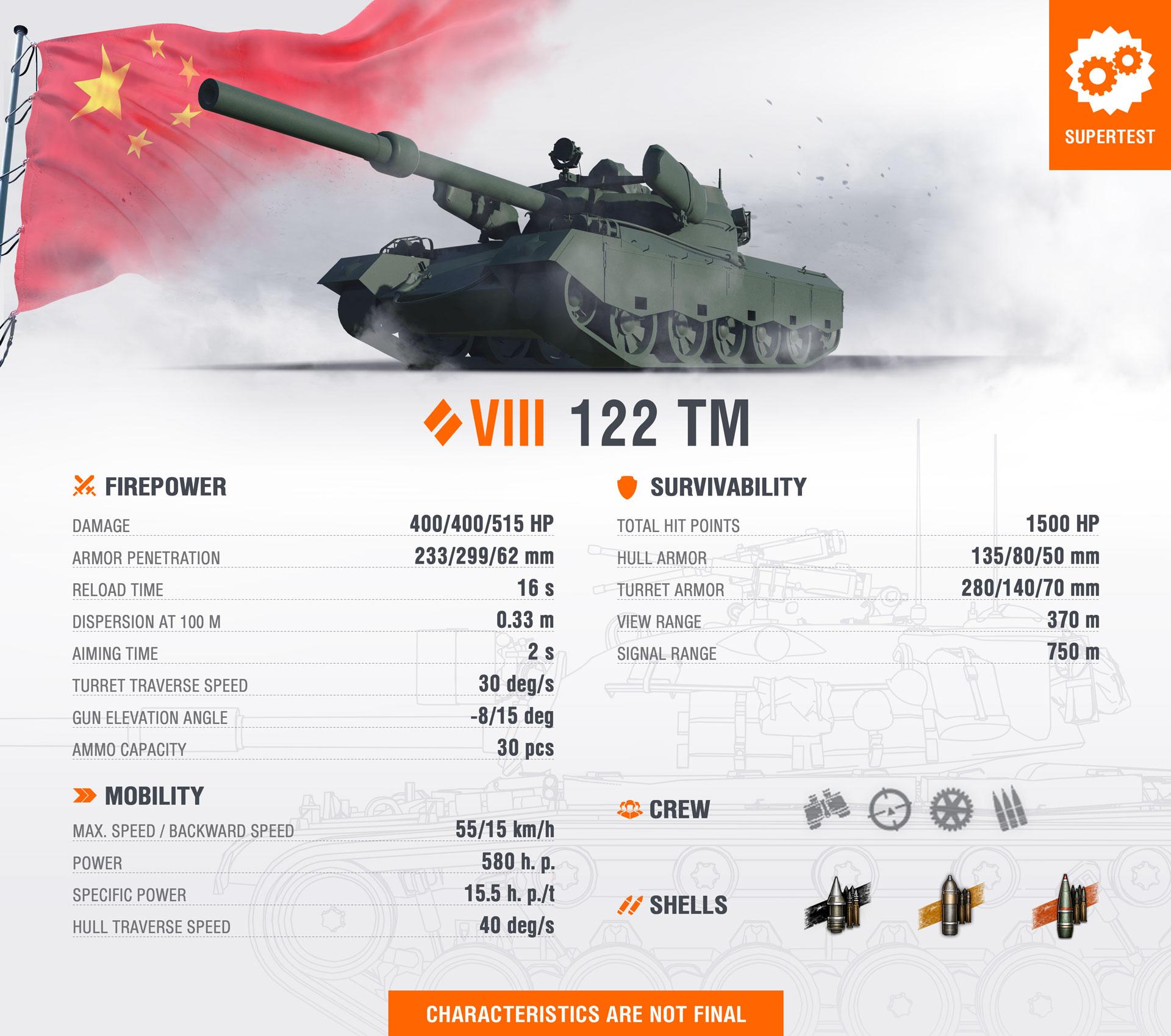 WoT Template New Tank 122 TM EN