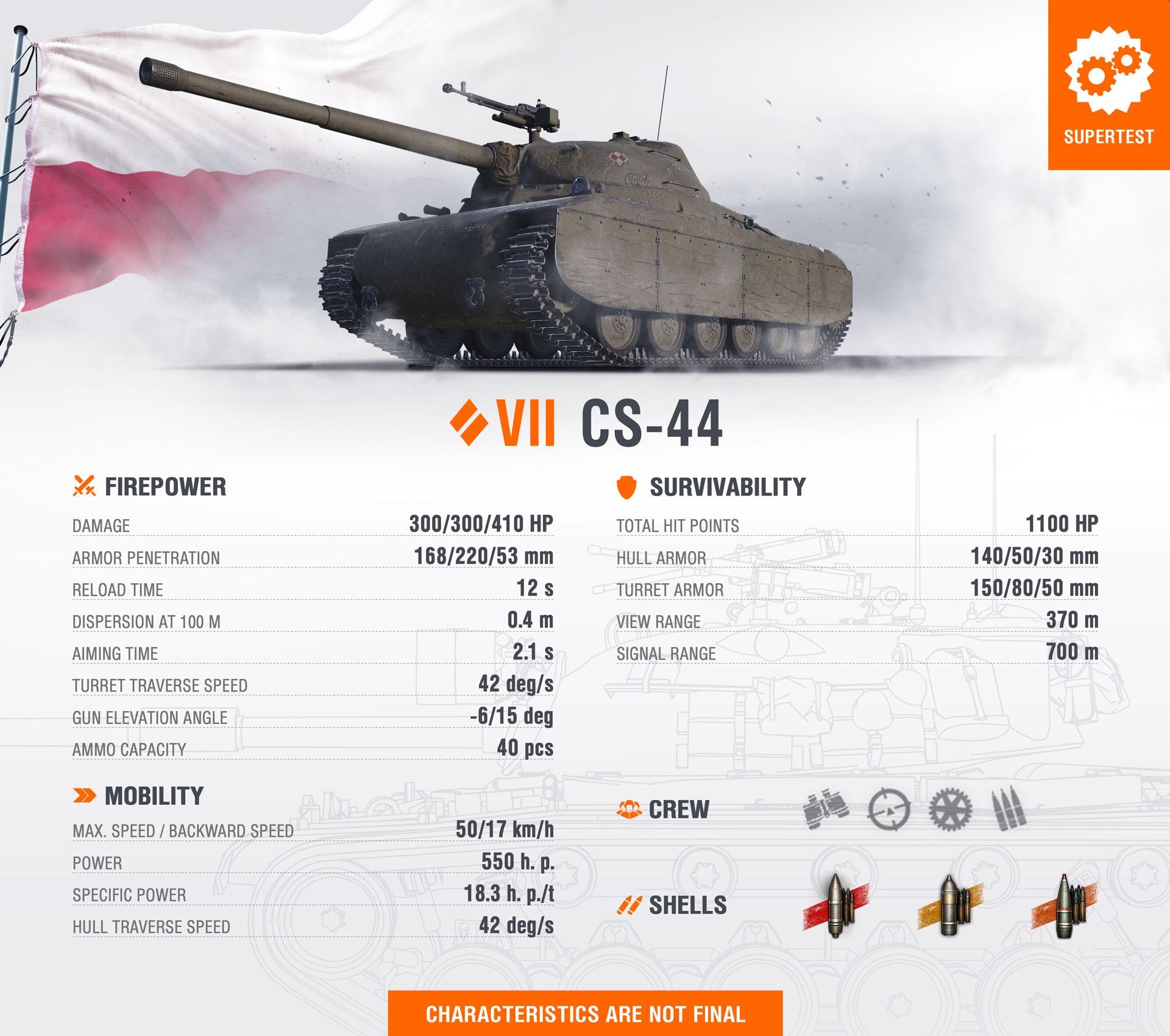 WoT Template New Tank CS-44 EN
