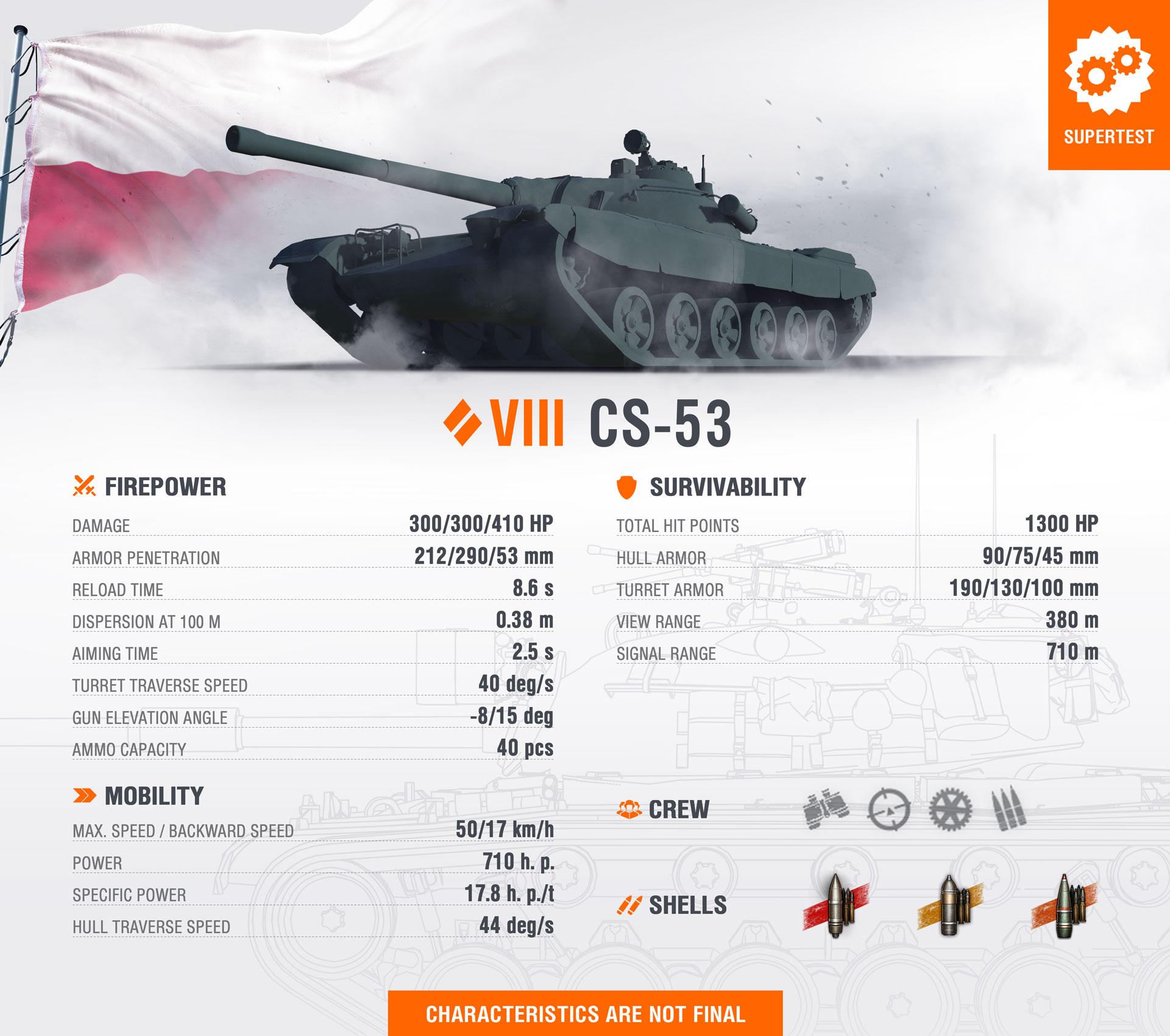 WoT Template New Tank CS-53 EN