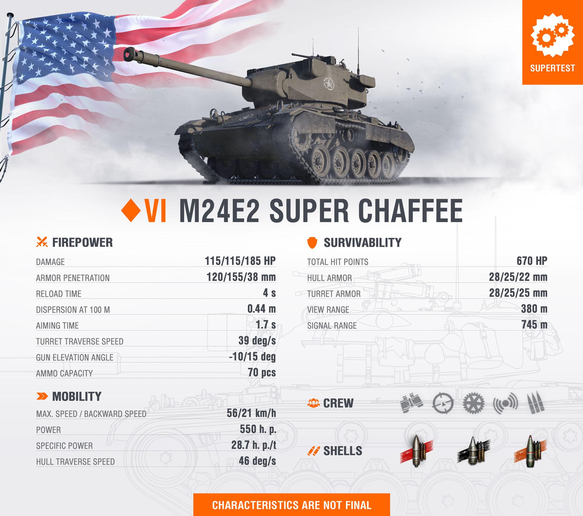 WoT Template New Tank М24Е2 Super Chaffee EN